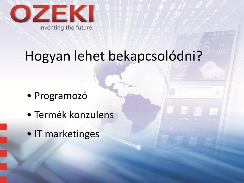 Hogyan lehet bekapcsolódni Programozó Termék konzulens IT marketinges