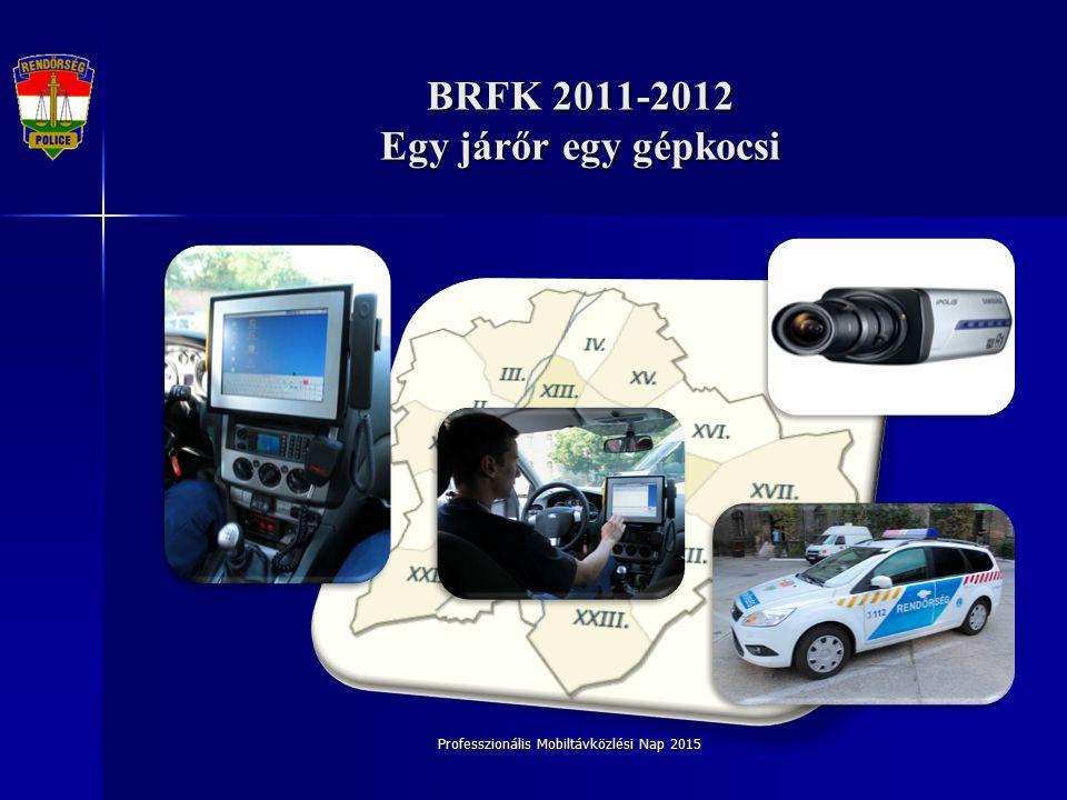Professzionális Mobiltávközlési Nap 2015 BRFK 2011-2012 Egy járőr egy gépkocsi