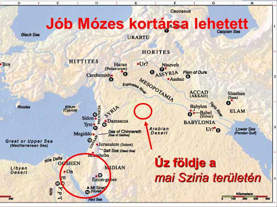 A név megváltozott Úz földje a mai Szíria területén Jób Mózes kortársa lehetett