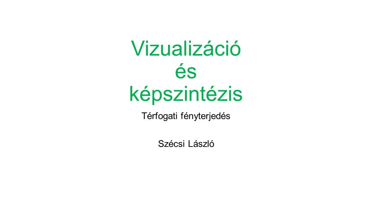 Vizualizáció és képszintézis Térfogati fényterjedés Szécsi László