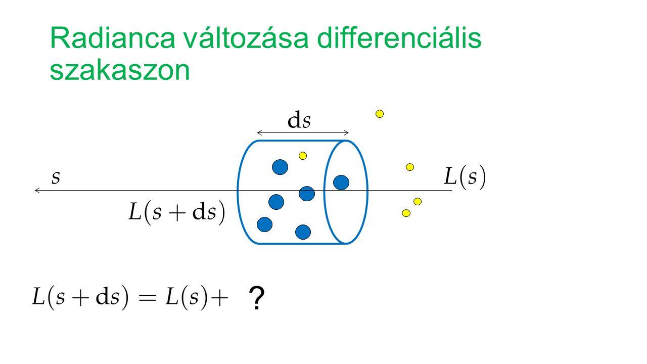 Radianca változása differenciális szakaszon ?