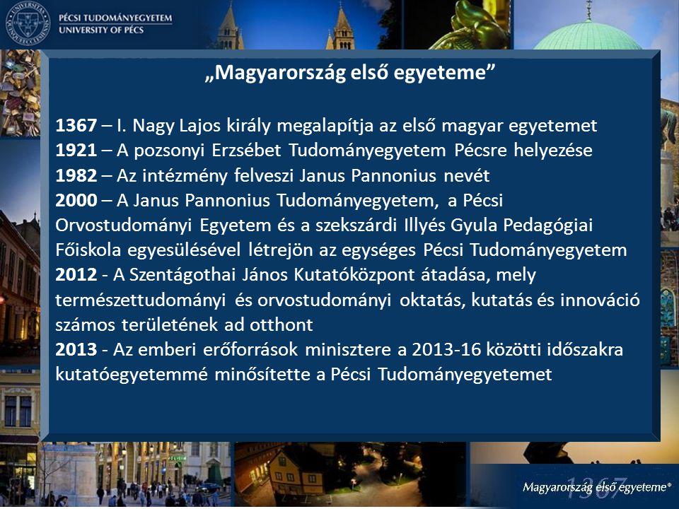 """""""Magyarország első egyeteme 1367 – I."""
