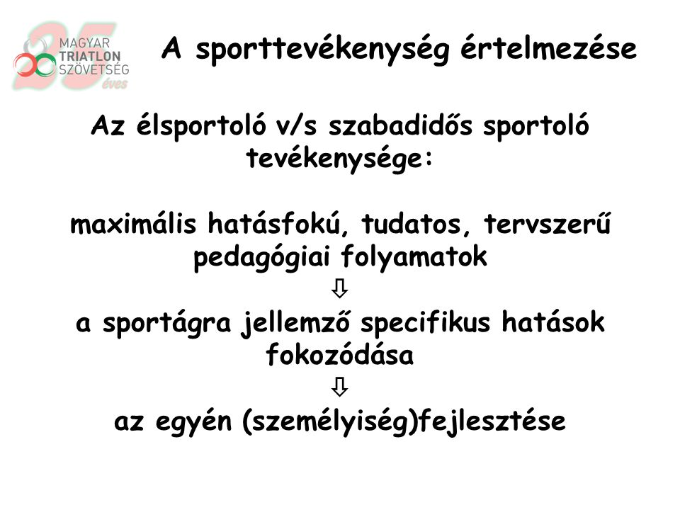 Az élsportoló v/s szabadidős sportoló tevékenysége: A szubjektív személyiségtényezők, a sportoló pszichikumának maximális és teljes körű igénybevétele.