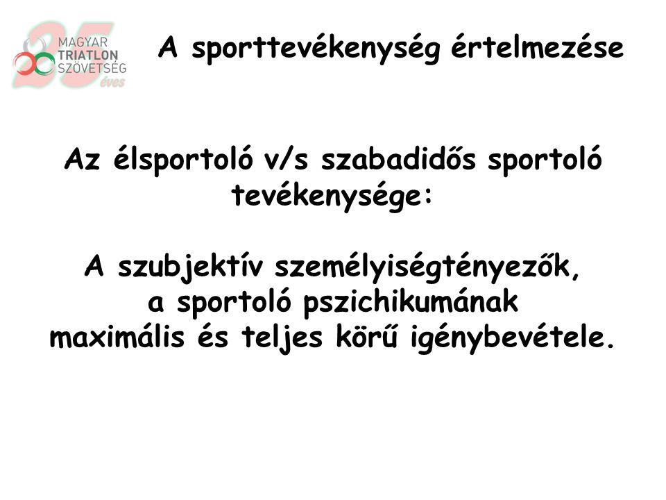 A sportoló előnyös jellemvonásai (lehetnek): magas affektivitás, kiváló alkalmazkodóképesség, kontaktusérzékenység, … A sportolók személyisége