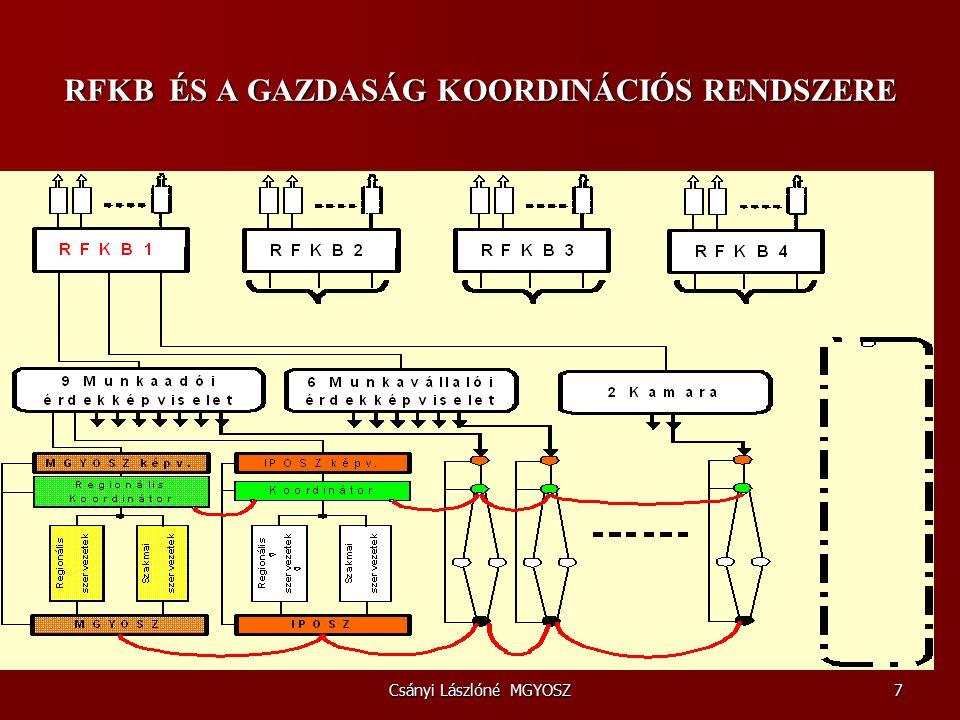 Csányi Lászlóné MGYOSZ18 A belső piaci szolgáltatásokról szóló 2006/123 EK irányelv 2009.