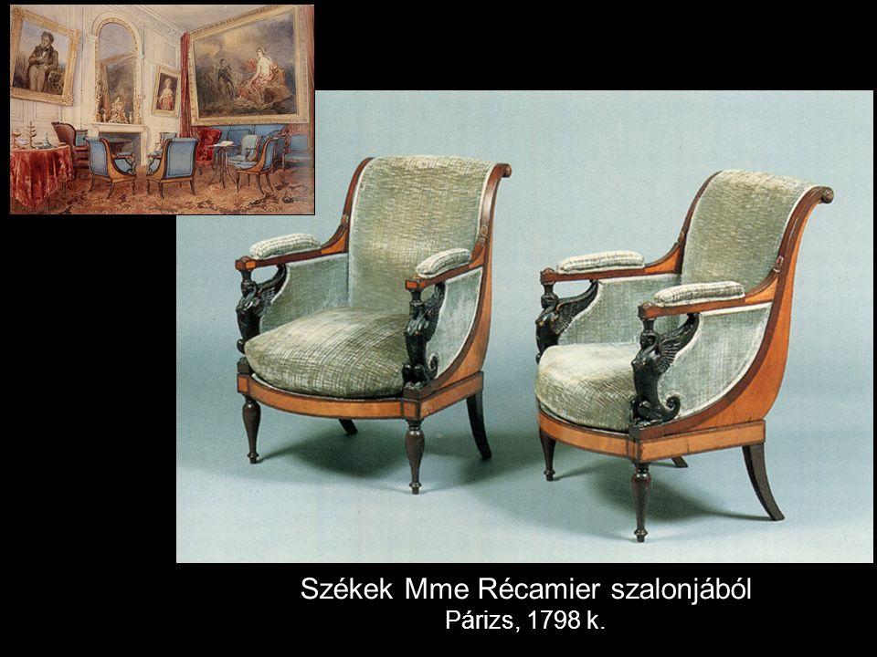 Székek Mme Récamier szalonjából Párizs, 1798 k.