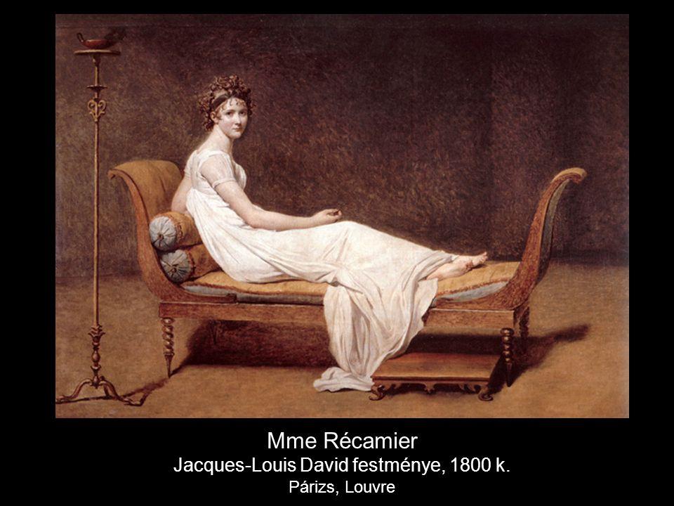 Mme Récamier Jacques-Louis David festménye, 1800 k. Párizs, Louvre