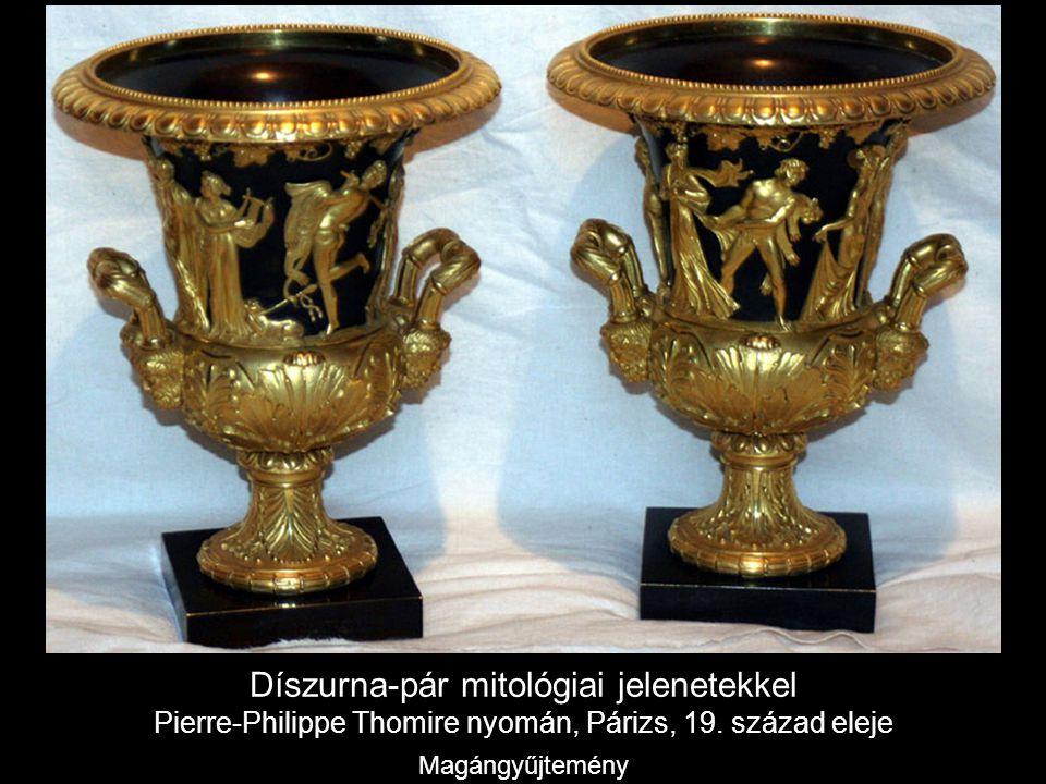 Díszurna-pár mitológiai jelenetekkel Pierre-Philippe Thomire nyomán, Párizs, 19.