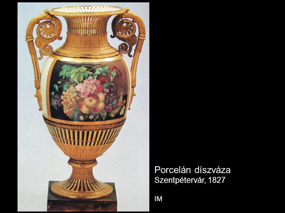 Porcelán díszváza Szentpétervár, 1827 IM