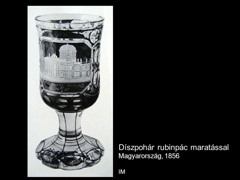 Díszpohár rubinpác maratással Magyarország, 1856 IM