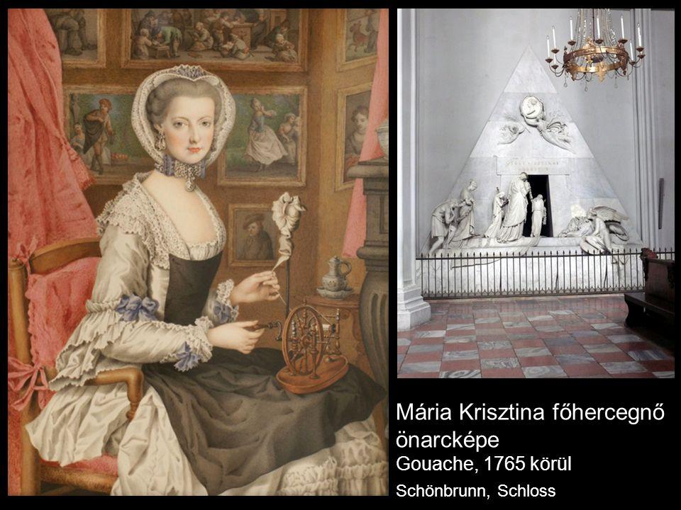 Mária Krisztina főhercegnő önarcképe Gouache, 1765 körül Schönbrunn, Schloss