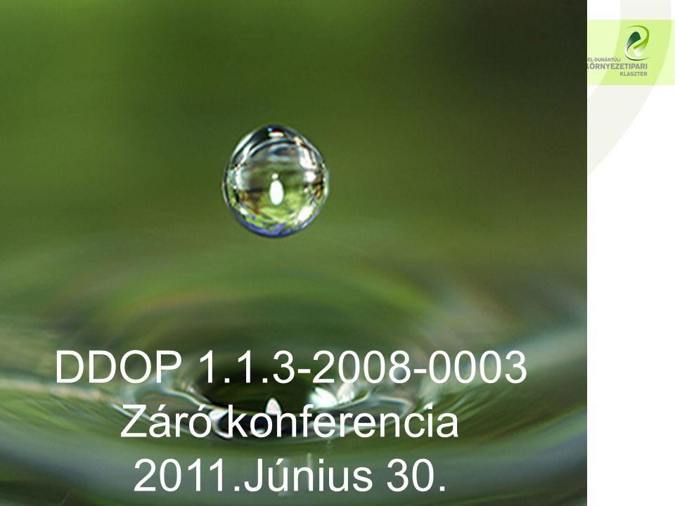 DDOP 1.1.3-2008-0003 Záró konferencia 2011.Június 30.