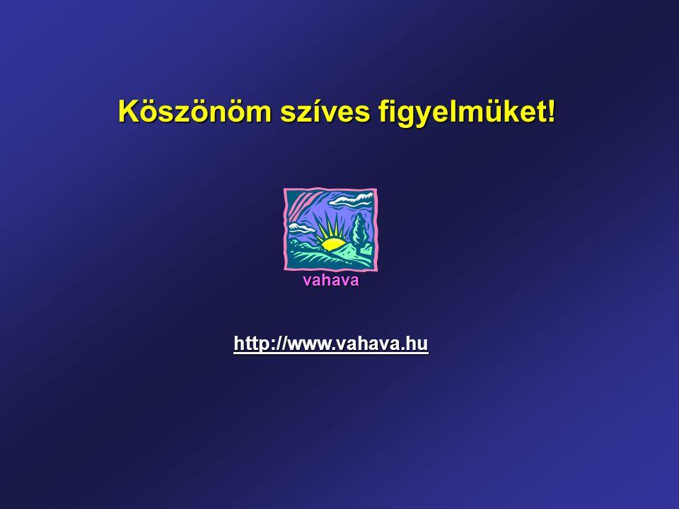 Köszönöm szíves figyelmüket! http://www.vahava.hu vahava