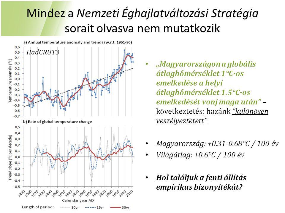 """Mindez a Nemzeti Éghajlatváltozási Stratégia sorait olvasva nem mutatkozik """"Magyarországon a globális átlaghőmérséklet 1°C-os emelkedése a helyi átlag"""