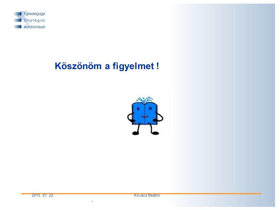 . 2015. 07. 22.Kovács Beatrix Köszönöm a figyelmet !