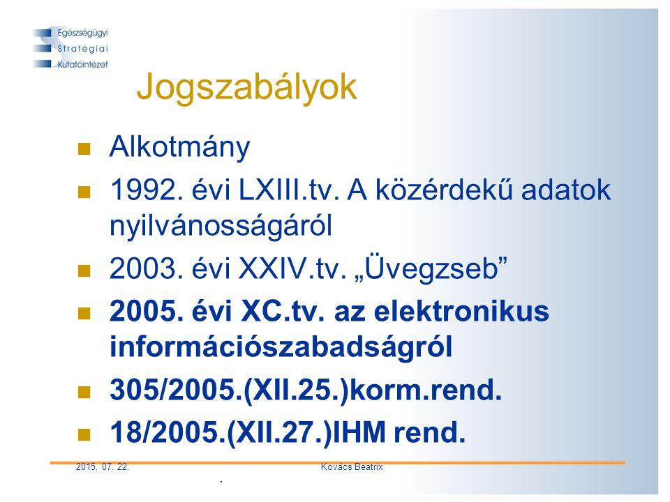 2015. 07. 22.Kovács Beatrix Jogszabályok Alkotmány 1992.