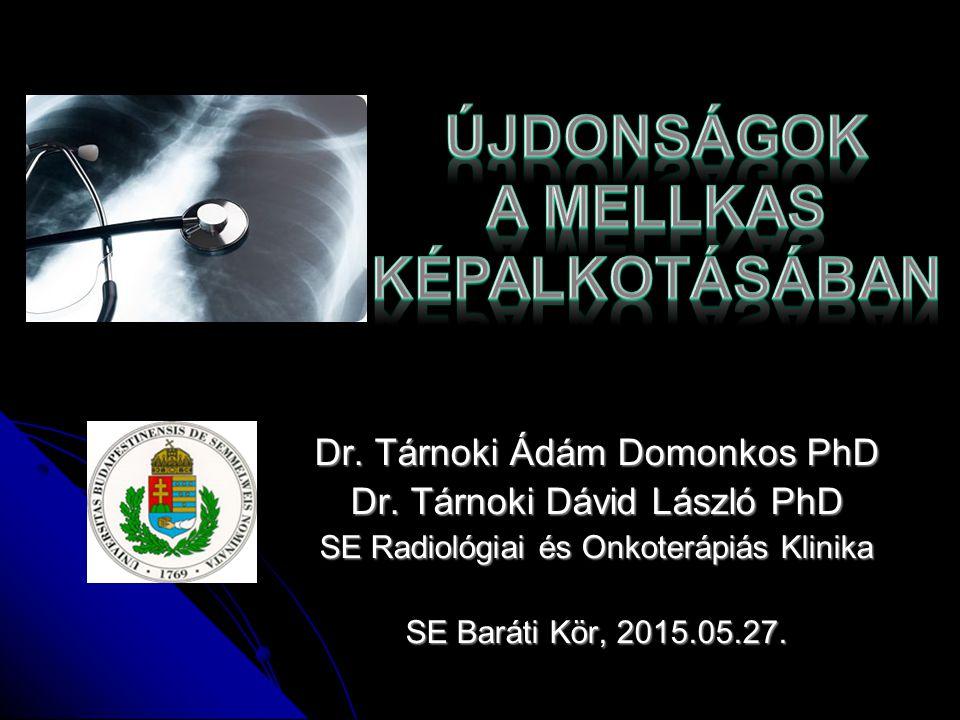 T1-mapping MRI a krónikus tüdő allograft diszfunkcióban o Bronchiolitis obliterans szindróma (BOS) tüdőtranszplantáció után a hosszú-távú túlélés markere o Eddig spirometria alapján állapították meg o 3 csoport: BOS 0, BOS0p és késői stádiumok (BOS1-3) o BOS korai detekciója o 51 beteg tüdőtranszplantáció után o coronalis T1 képek szobalevegőn és 100% oxigénen inversion recovery snapshot fast low angle shot sequence + oxigén transzfer funkciót (OTF) számoltak Julius Renne és mtsai.