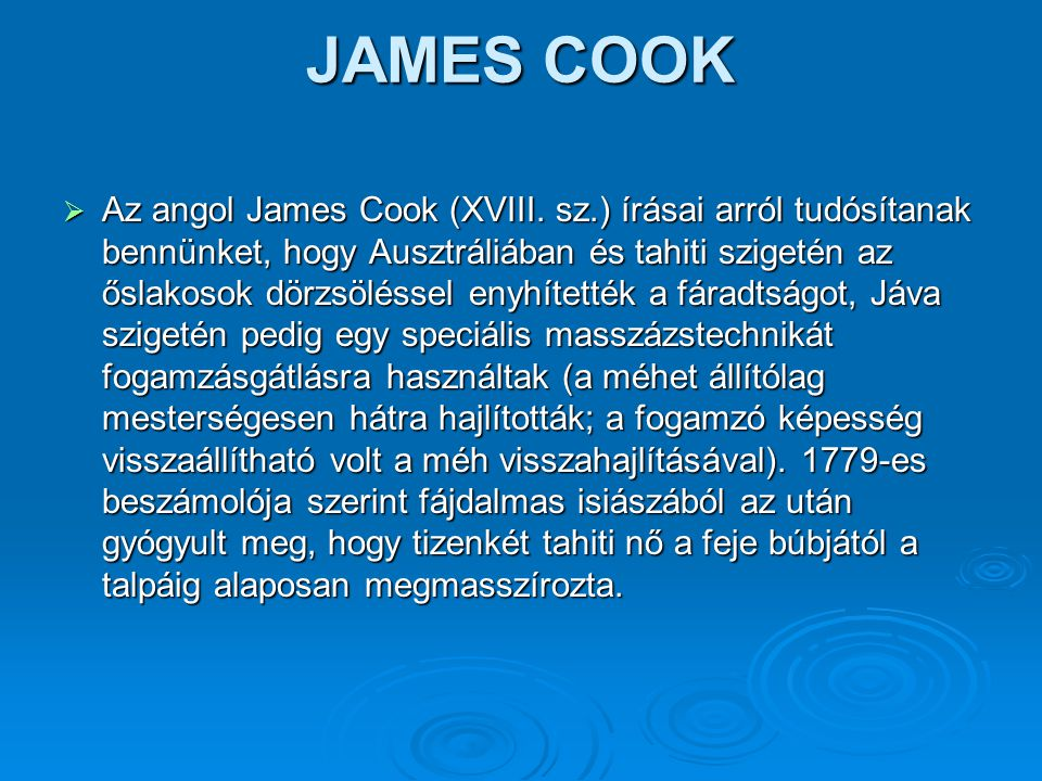 JAMES COOK  Az angol James Cook (XVIII.