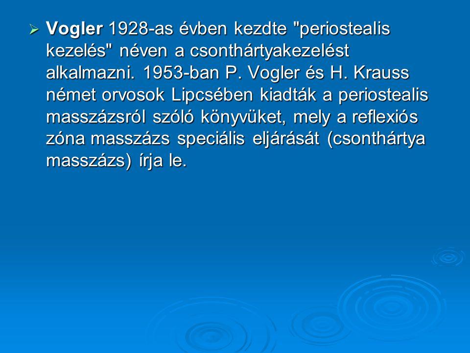  Vogler 1928-as évben kezdte