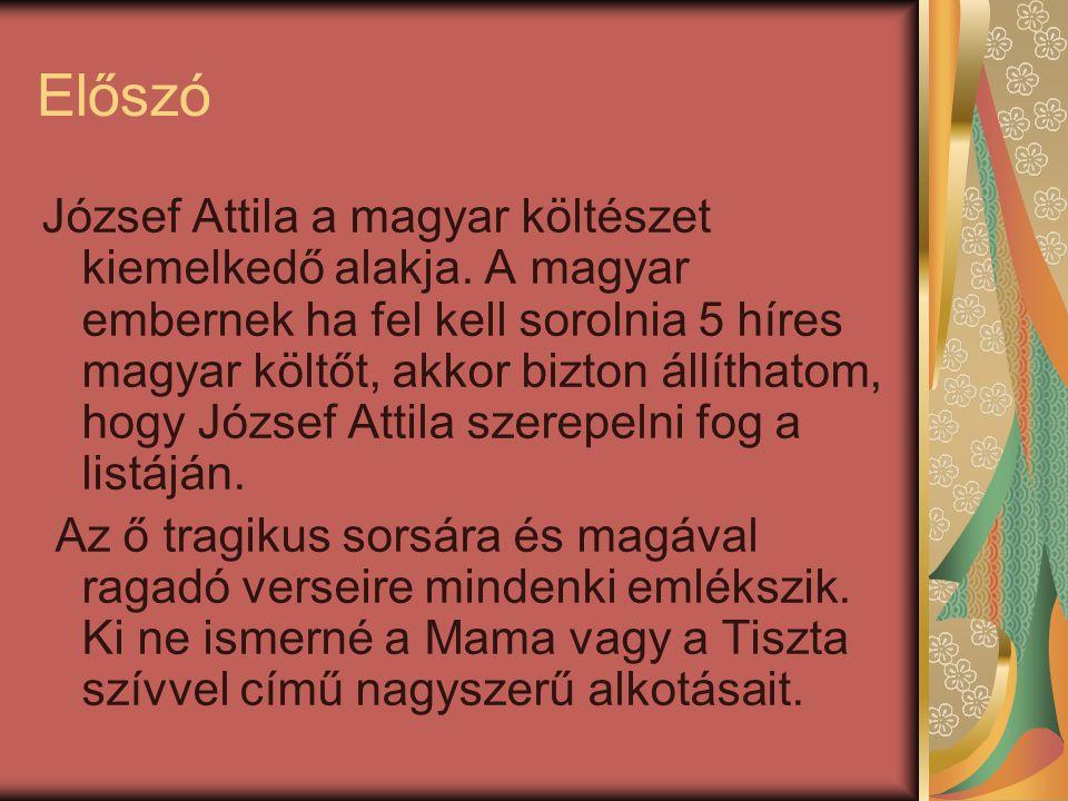 Előszó József Attila a magyar költészet kiemelkedő alakja.