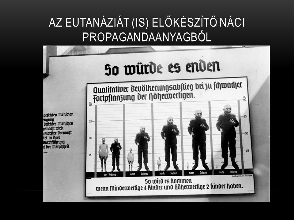 1883- Friedrich Nietzsche: Imígyen szóla Zarathustra Amennyiben az élet csak szenvedés, ezt megrövidíteni az embernek erkölcsi kötelessége, mivel a szenvedők fölöslegesek Ezekhez a gondolatokhoz kapcsolódik az első nyilvános eutanáziát támogató irat 1920-ból