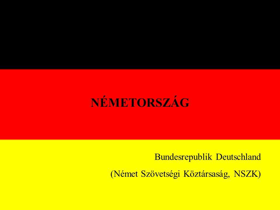 NÉMETORSZÁG Bundesrepublik Deutschland (Német Szövetségi Köztársaság, NSZK)