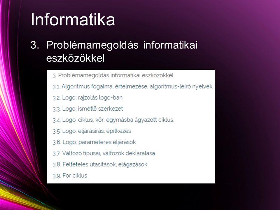 Informatika 3.Problémamegoldás informatikai eszközökkel