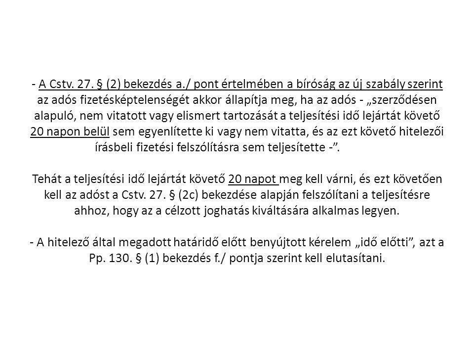 - A Cstv.27.