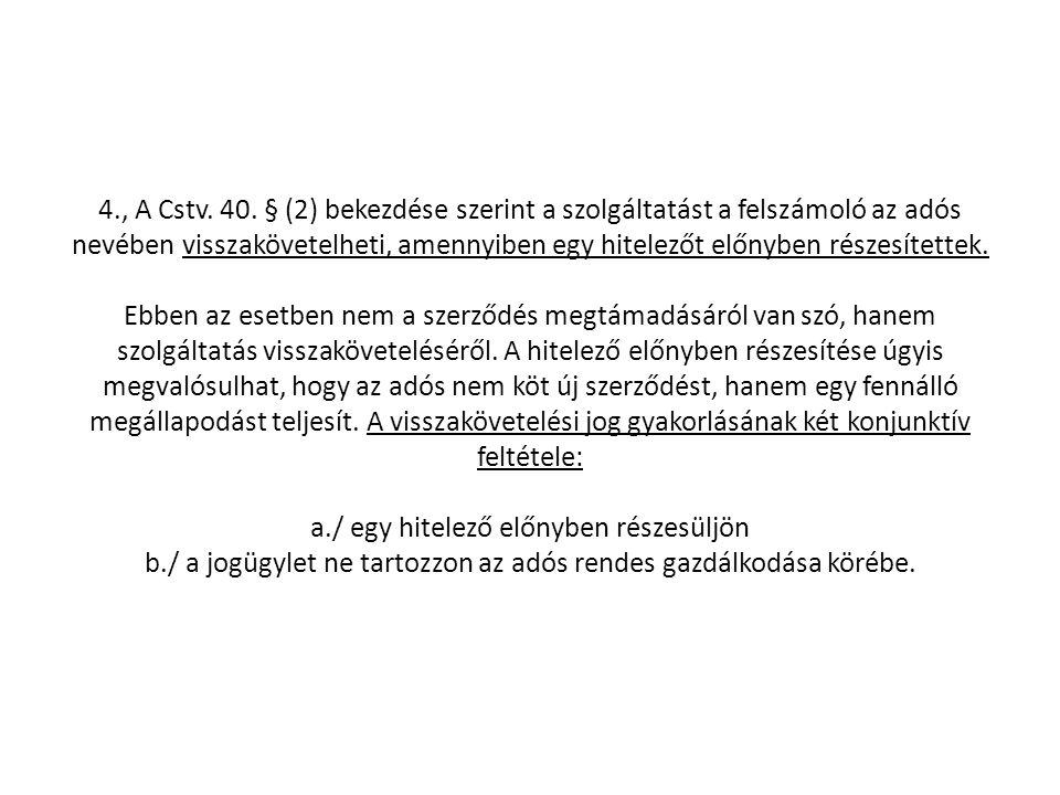 4., A Cstv.40.