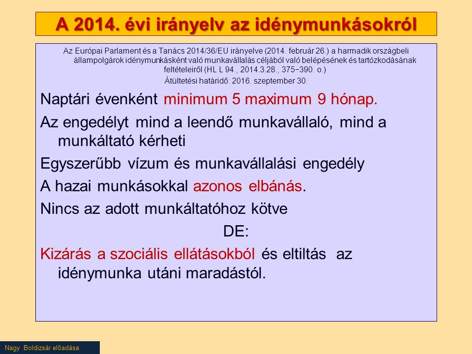 Nagy Boldizsár előadása A 2014.