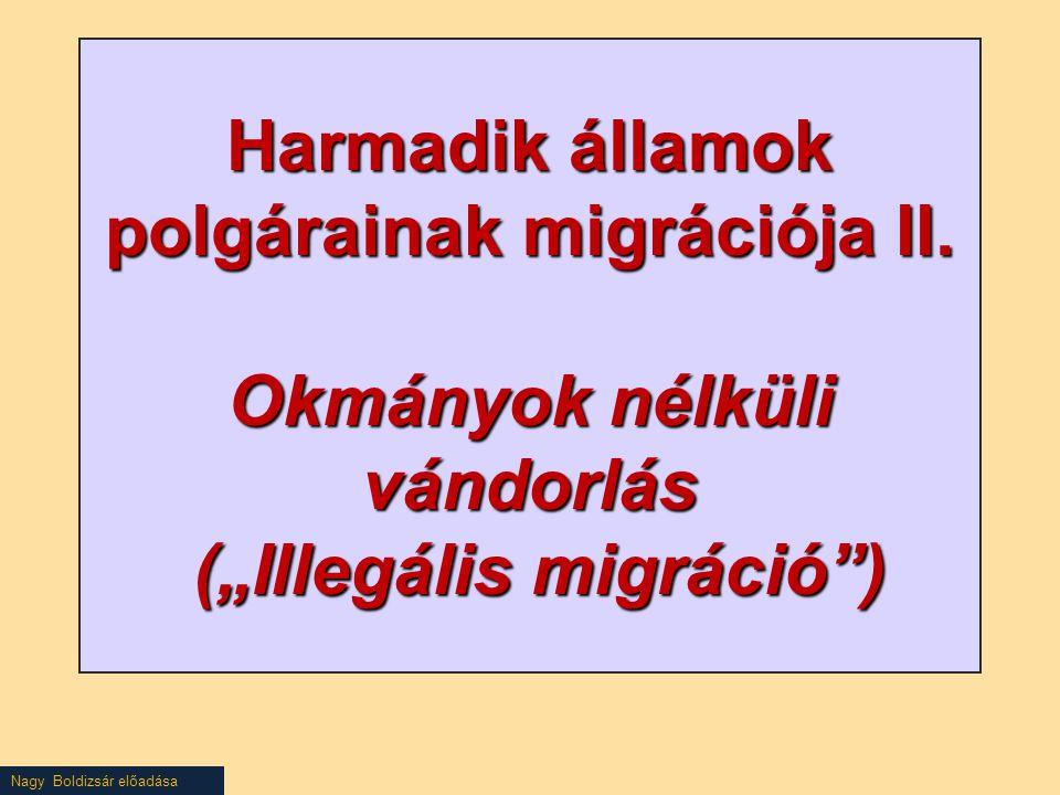 Nagy Boldizsár előadása Harmadik államok polgárainak migrációja II.