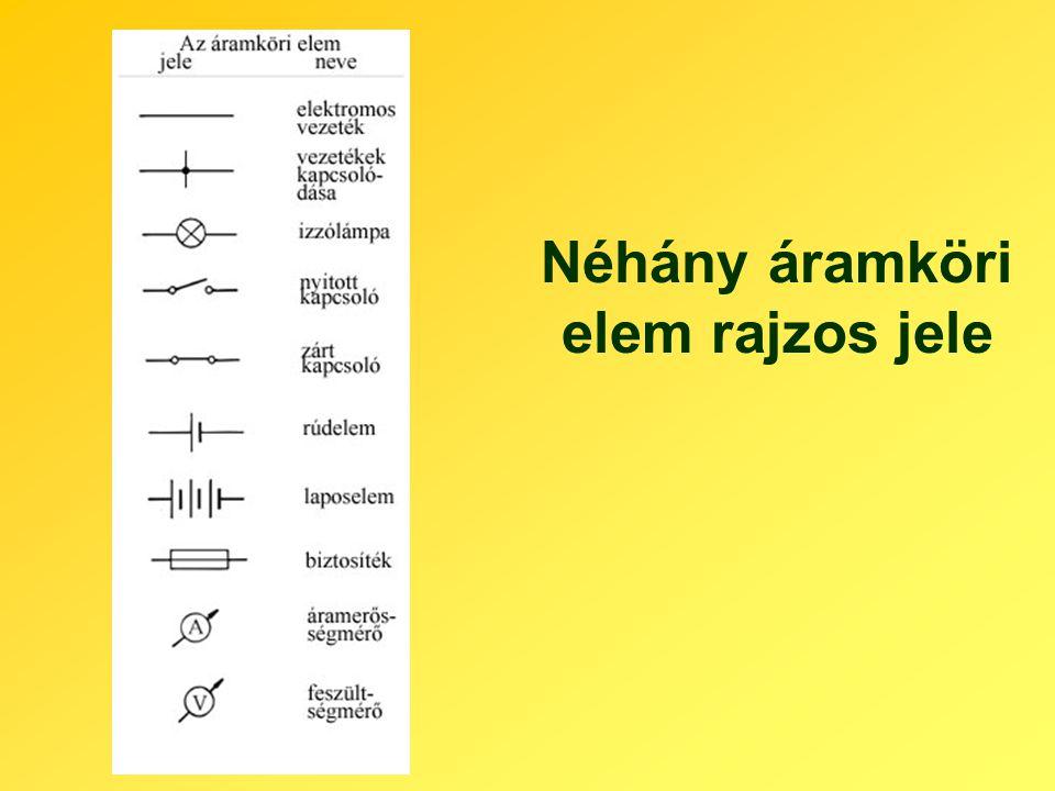 Néhány áramköri elem rajzos jele