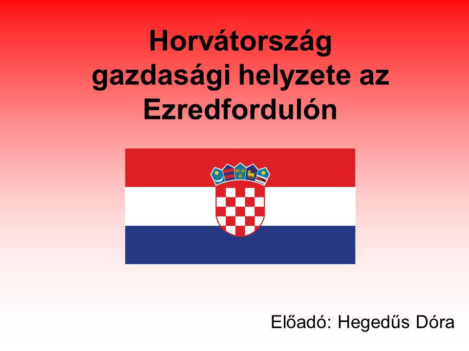 Horvátország gazdasági helyzete az Ezredfordulón Előadó: Hegedűs Dóra