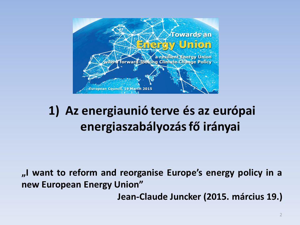 3 Klíma és energiacélok 2030-ig Az Európai Tanács 2014.