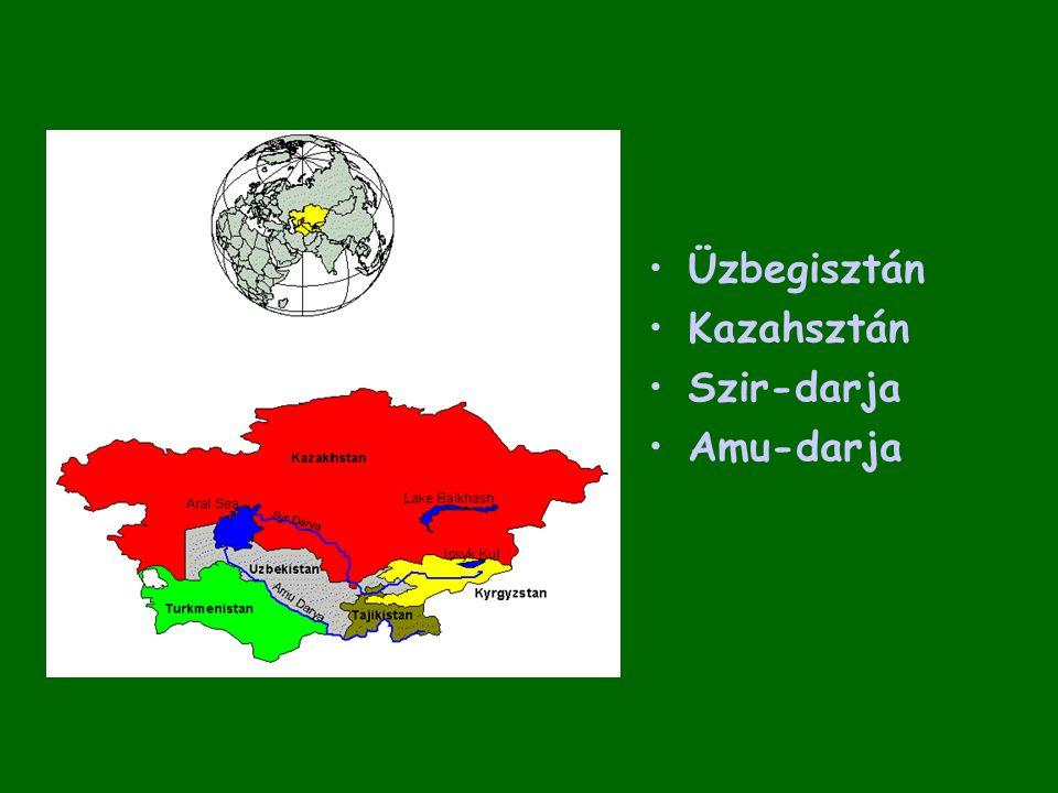 Üzbegisztán Kazahsztán Szir-darja Amu-darja
