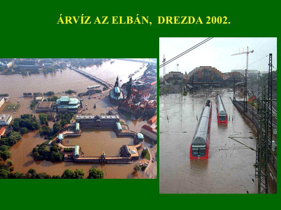 ÁRVÍZ AZ ELBÁN, DREZDA 2002.