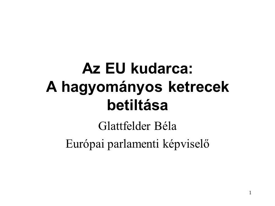 1 Az EU kudarca: A hagyományos ketrecek betiltása Glattfelder Béla Európai parlamenti képviselő