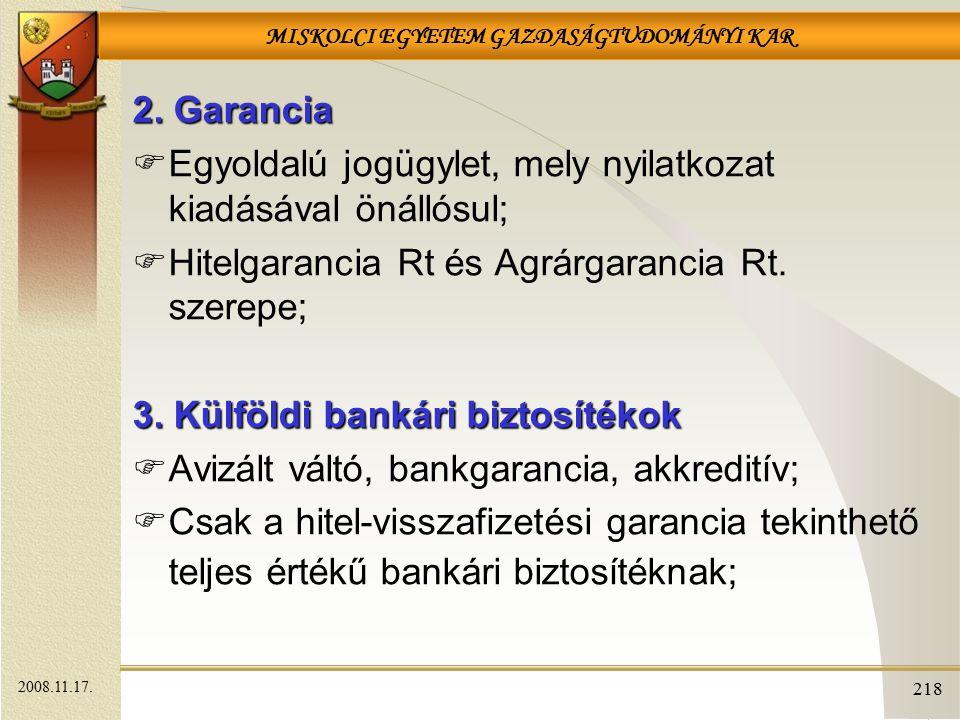 MISKOLCI EGYETEM GAZDASÁGTUDOMÁNYI KAR 218 2.
