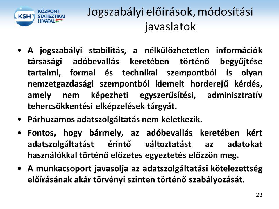 A jogszabályi stabilitás, a nélkülözhetetlen információk társasági adóbevallás keretében történő begyűjtése tartalmi, formai és technikai szempontból