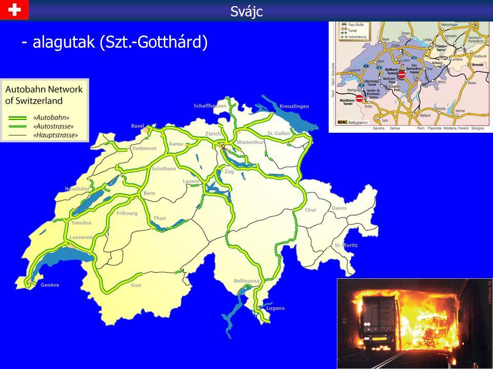 - alagutak (Szt.-Gotthárd) Svájc