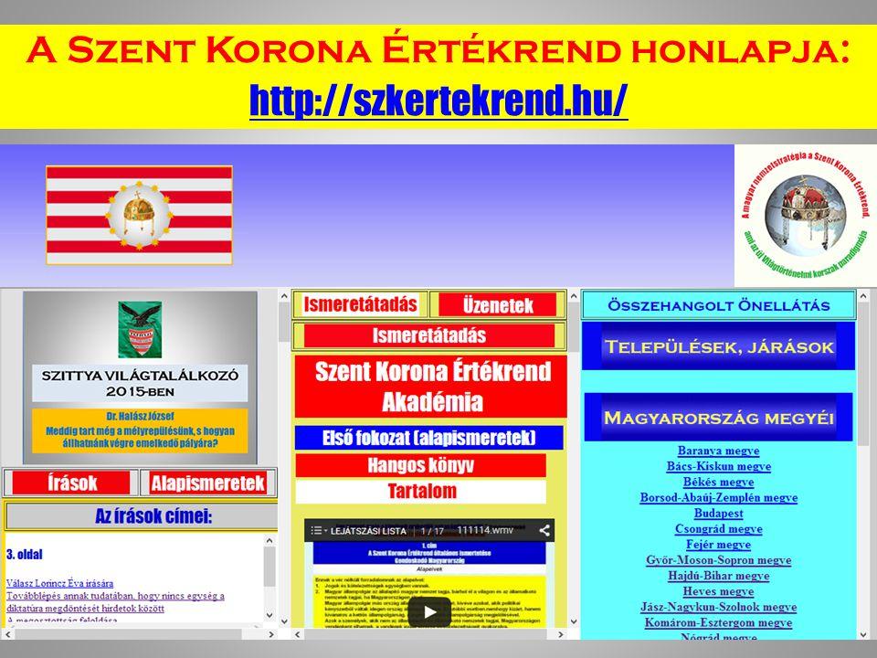 A Szent Korona Értékrend honlapja: http://szkertekrend.hu/