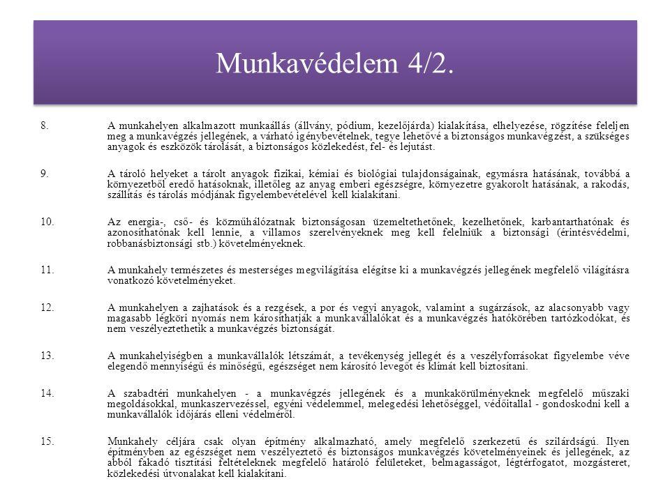 Munkavédelem 4/3.