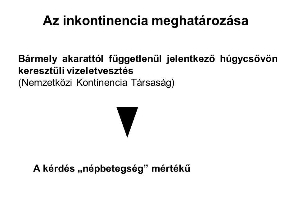 Inkontinencia formái és kezelésÉNEK ÖSZZEFOGLALÁSA Terheléses (stressz) inkontinencia 1.