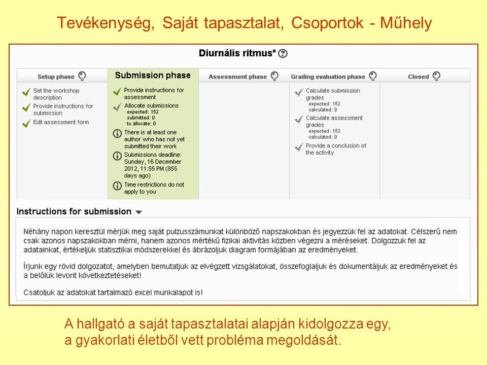 Tevékenység, H allgatói munka, Csoportok - Fogalomtár fogalmak:SE (Spin Echo) SI (Signal Intensity) a fogalomtárat hallgatók szerkeszthetik (tanári jóváhagyás) interaktivitás (egér)