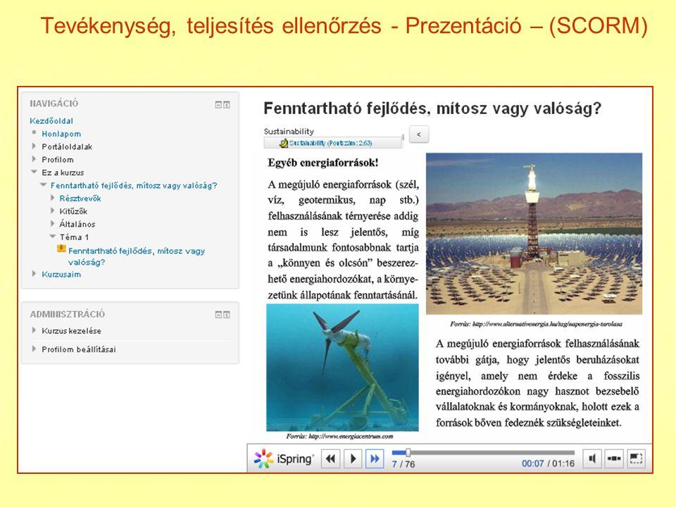 Web dokument Moodle lecke start end 1.téma 2. téma 1.