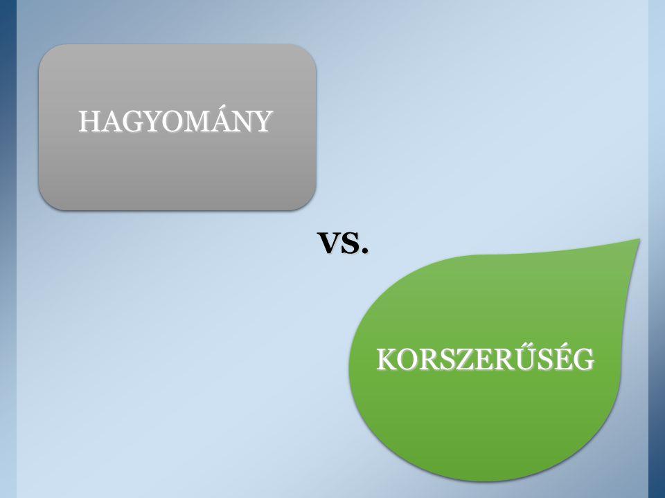 HAGYOMÁNY KORSZERŰSÉG VS.