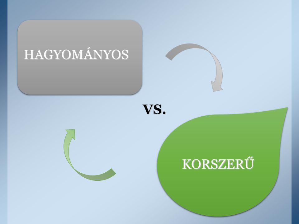 HAGYOMÁNYOS KORSZERŰ VS.