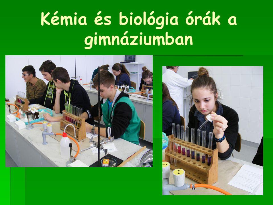 Kémia és biológia órák a gimnáziumban