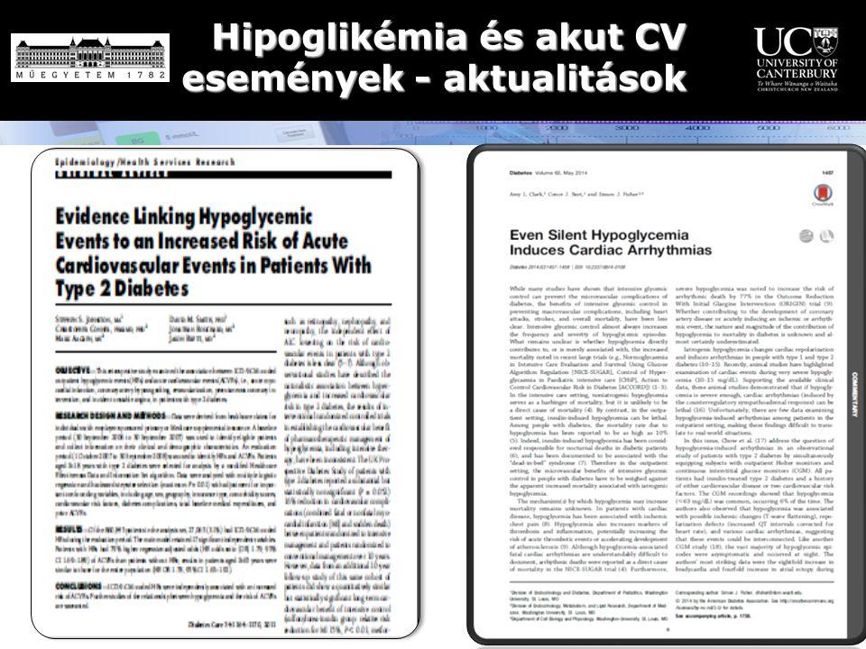 Hipoglikémia és akut CV események - aktualitások