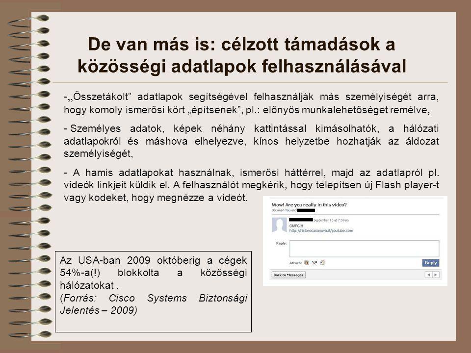"""De van más is: célzott támadások a közösségi adatlapok felhasználásával -"""" Összetákolt"""" adatlapok segítségével felhasználják más személyiségét arra, h"""